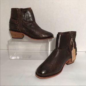 H by Hudson London Brown Leather Ankle Boots 37/6